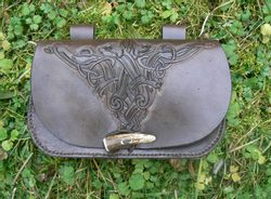 BAG WITH A CELTIC SYMBOL - hand carved