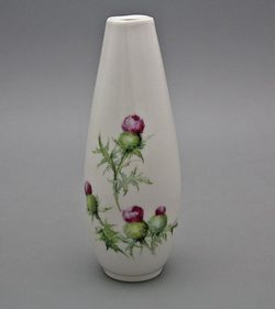 Vase Scottish Thistle, Karlsbad porcelain