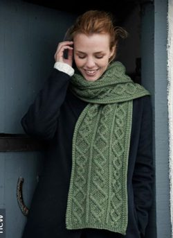 MERINO WOOL SCARF, green