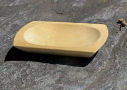 CARVED WOODEN BOWL 10 x 18 cm