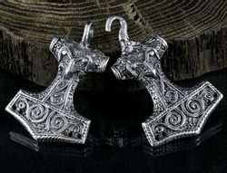 Thor's Hammer, tin, costume brooch
