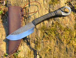Celtic Hand Forged Knife with Leather Sheath