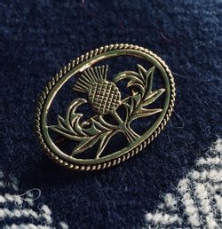JAMIE, scottish thistle brooch