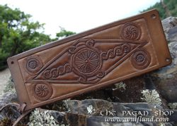 LEATHER WRISTBAND with SLAVIC KOLOVRATS