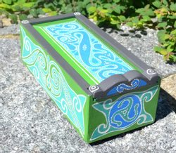 LA TÉNE, Celtic Wooden Box, replica