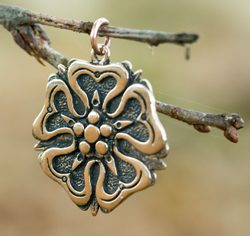 ROSE, House of Rosenbergs, pendant, bronze
