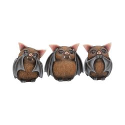 THREE WISE BATS, figurines set