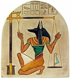 ANUBIS WITH THE SCALE