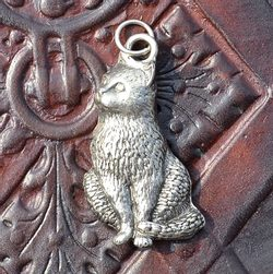 CAT, pewter pendant
