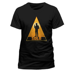 Han Solo Movie - Retro Solo Triangle, Unisex T-shirt - Black