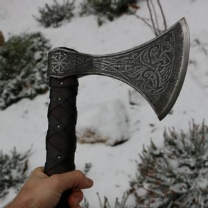 SKJALDBORG, ETCHED VIKING AXE - AXES, POLEWEAPONS{% if kategorie.adresa_nazvy[0] != zbozi.kategorie.nazev %} - WEAPONS - SWORDS, AXES, KNIVES{% endif %}