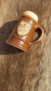 CERAMIC BEER MUG WITH CZECH LION, 0.4 L - HISTORICAL CERAMICS{% if kategorie.adresa_nazvy[0] != zbozi.kategorie.nazev %} - CERAMICS, GLASS{% endif %}