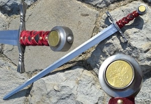 ROYAL SWORD WITH THE LION, COMBAT SWORD - MEDIEVAL SWORDS{% if kategorie.adresa_nazvy[0] != zbozi.kategorie.nazev %} - WEAPONS - SWORDS, AXES, KNIVES{% endif %}