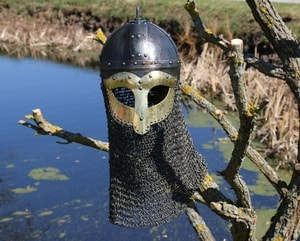 VIKING HELMET GJERMUNDBU WITH RIVETED AVENTAIL - VIKING AND NORMAN HELMETS{% if kategorie.adresa_nazvy[0] != zbozi.kategorie.nazev %} - ARMOUR HELMETS, SHIELDS{% endif %}