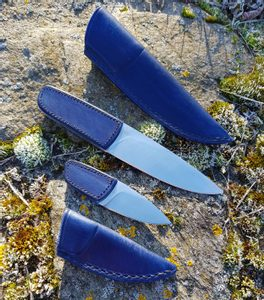 LOGAN DESIGNER KNIFE WITH LEATHER GRIP AND SHEATH, BLUE - KNIVES{% if kategorie.adresa_nazvy[0] != zbozi.kategorie.nazev %} - WEAPONS - SWORDS, AXES, KNIVES{% endif %}