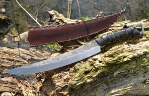 LONG IRON AGE KNIFE, SHARP WITH LEATHER SHEATH - KNIVES{% if kategorie.adresa_nazvy[0] != zbozi.kategorie.nazev %} - WEAPONS - SWORDS, AXES, KNIVES{% endif %}