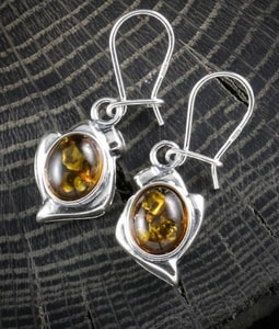 DANICA, YELLOW AMBER, EARRINGS, STERLING SILVER - AMBER JEWELRY{% if kategorie.adresa_nazvy[0] != zbozi.kategorie.nazev %} - JEWELLERY{% endif %}