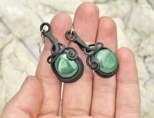 MALACHITE EARRINGS - FANTASY JEWELS{% if kategorie.adresa_nazvy[0] != zbozi.kategorie.nazev %} - JEWELLERY{% endif %}