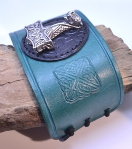 VIKING LEATHER BRACELET, THOR'S HAMMER OSEBERG - WRISTBANDS{% if kategorie.adresa_nazvy[0] != zbozi.kategorie.nazev %} - LEATHER PRODUCTS{% endif %}