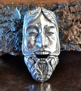 GREEN MAN, THE LORD OF THE NATURE AND REBIRTH, SILVER PENDANT AG 925 - MYSTICA SILVER COLLECTION - PENDANTS{% if kategorie.adresa_nazvy[0] != zbozi.kategorie.nazev %} - JEWELLERY{% endif %}