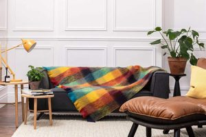 JEWEL CHECK MOHAIR THROW, MOHAIR, WOOL - WOOLEN BLANKETS AND SCARVES, IRELAND{% if kategorie.adresa_nazvy[0] != zbozi.kategorie.nazev %} - WOOLEN PRODUCTS, IRELAND{% endif %}
