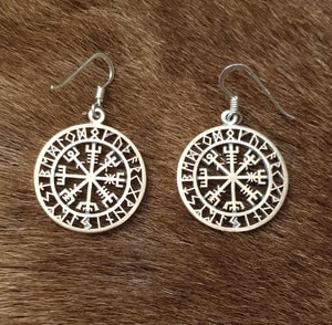 VEGVISIR, ICELANDIC RUNE EARRINGS, BRONZE - EARRINGS - BRONZE{% if kategorie.adresa_nazvy[0] != zbozi.kategorie.nazev %} - JEWELLERY{% endif %}