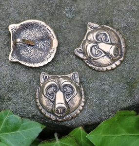 BEAR, HEAD, BRONZE PENDANT - PENDANTS, NECKLACES{% if kategorie.adresa_nazvy[0] != zbozi.kategorie.nazev %} - JEWELLERY{% endif %}