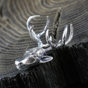 DEER, NECKLACE, STERLING SILVER - MYSTICA SILVER COLLECTION - PENDANTS{% if kategorie.adresa_nazvy[0] != zbozi.kategorie.nazev %} - JEWELLERY{% endif %}