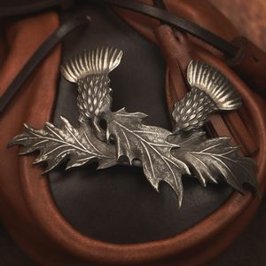 SCOTTISH THISTLE HAIRCLIP, PEWTER - COSTUME JEWELLERY{% if kategorie.adresa_nazvy[0] != zbozi.kategorie.nazev %} - JEWELLERY{% endif %}