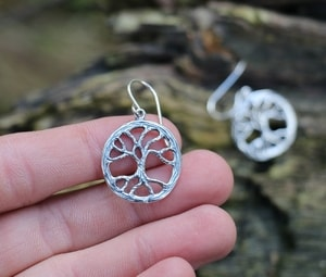 YGGDRASIL, TREE EARRINGS, SILVER - MYSTICA SILVER COLLECTION - EARRINGS{% if kategorie.adresa_nazvy[0] != zbozi.kategorie.nazev %} - JEWELLERY{% endif %}