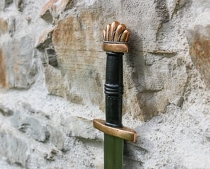 GRÍMARR, VIKING SWORD PETERSEN TYPE O, BRONZE, SILVER - VIKING AND NORMAN SWORDS{% if kategorie.adresa_nazvy[0] != zbozi.kategorie.nazev %} - WEAPONS - SWORDS, AXES, KNIVES{% endif %}