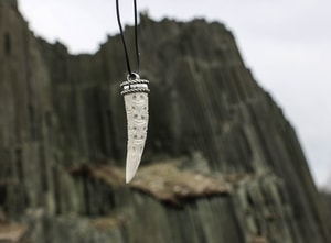 CARVED ANTLER PENDANT, VIKING STYLE, STERLING SILVER - FILIGREE AND GRANULATED REPLICA JEWELS{% if kategorie.adresa_nazvy[0] != zbozi.kategorie.nazev %} - JEWELLERY{% endif %}