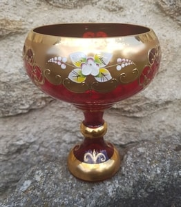 FELICIA - GOBLET, CZECH GLASS, HIGH ENAMEL - HISTORICAL GLASS{% if kategorie.adresa_nazvy[0] != zbozi.kategorie.nazev %} - CERAMICS, GLASS{% endif %}
