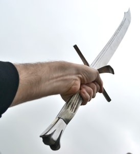 LANGMESSER, TWO HANDED, ANTLER HANDLE - FALCHIONS, SCOTLAND, OTHER SWORDS{% if kategorie.adresa_nazvy[0] != zbozi.kategorie.nazev %} - WEAPONS - SWORDS, AXES, KNIVES{% endif %}