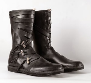 VARYAG, LATHER VIKING HIGH SHOES, BLACK - VIKING, SLAVIC BOOTS{% if kategorie.adresa_nazvy[0] != zbozi.kategorie.nazev %} - SHOES, COSTUMES{% endif %}