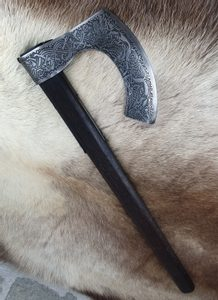 CONNOR LUXURY ETCHED AXE - AXES, POLEWEAPONS{% if kategorie.adresa_nazvy[0] != zbozi.kategorie.nazev %} - WEAPONS - SWORDS, AXES, KNIVES{% endif %}