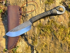 CELTIC HAND FORGED KNIFE WITH LEATHER SHEATH - KNIVES{% if kategorie.adresa_nazvy[0] != zbozi.kategorie.nazev %} - WEAPONS - SWORDS, AXES, KNIVES{% endif %}