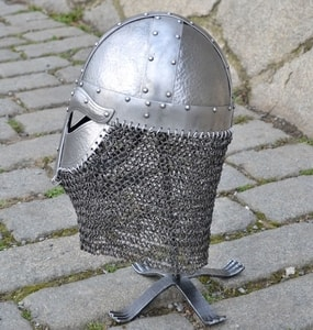 HJALMAR, VIKING HELMET 2MM, RIVETED AVENTAIL - VIKING AND NORMAN HELMETS{% if kategorie.adresa_nazvy[0] != zbozi.kategorie.nazev %} - ARMOUR HELMETS, SHIELDS{% endif %}