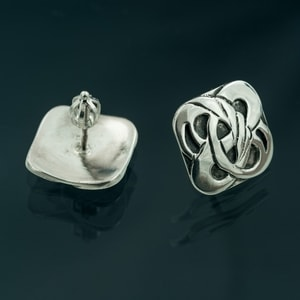 BOHEMIA, ART NOUVEAU, SILVER EARRINGS - ART NOUVEAU JEWELS{% if kategorie.adresa_nazvy[0] != zbozi.kategorie.nazev %} - JEWELLERY{% endif %}