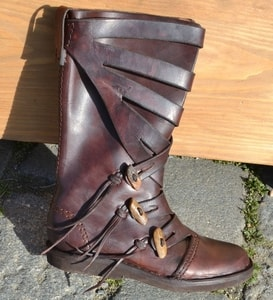 VARYAG, LATHER VIKING HIGH SHOES - CHAUSSURES VIKING ET SLAVES{% if kategorie.adresa_nazvy[0] != zbozi.kategorie.nazev %} - COSTUMES, CHAUSSURES{% endif %}