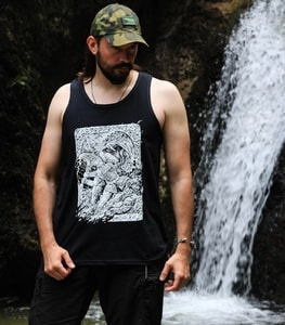 RAGNARÖK, VIKING TANK TOP, BLACK AND WHITE - PAGAN T-SHIRTS NAAV FASHION{% if kategorie.adresa_nazvy[0] != zbozi.kategorie.nazev %} - T-SHIRTS, BOOTS{% endif %}