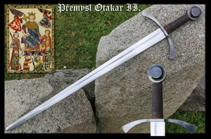 FORGED SWORD OTTOKAR II OF BOHEMIA, BATTLE READY REPLICA - MEDIEVAL SWORDS{% if kategorie.adresa_nazvy[0] != zbozi.kategorie.nazev %} - WEAPONS - SWORDS, AXES, KNIVES{% endif %}
