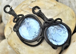 BLUE GLASS - EARRINGS - FANTASY JEWELS{% if kategorie.adresa_nazvy[0] != zbozi.kategorie.nazev %} - JEWELLERY{% endif %}
