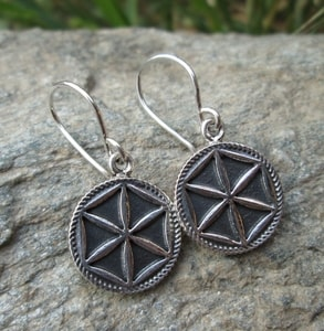 PERUNIKA, SILVER EARRINGS - EARRINGS - HISTORICAL JEWELRY{% if kategorie.adresa_nazvy[0] != zbozi.kategorie.nazev %} - JEWELLERY{% endif %}