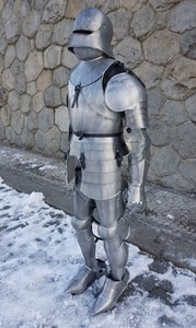 PLATE ARMOUR - ALUMINIUM - FOR FILMMAKERS - SUITS OF ARMOUR{% if kategorie.adresa_nazvy[0] != zbozi.kategorie.nazev %} - ARMOUR HELMETS, SHIELDS{% endif %}