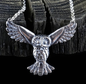 FLYING OWL, SILVER STERLING PENDANT - MYSTICA SILVER COLLECTION - PENDANTS{% if kategorie.adresa_nazvy[0] != zbozi.kategorie.nazev %} - JEWELLERY{% endif %}