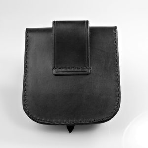 GENTLEMAN, LEATHER BELT BAG - BLACK - BAGS, SPORRANS{% if kategorie.adresa_nazvy[0] != zbozi.kategorie.nazev %} - LEATHER PRODUCTS{% endif %}