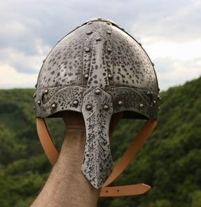 NORMAN NASAL HELMET DECORATED WITH PATINA - VIKING AND NORMAN HELMETS{% if kategorie.adresa_nazvy[0] != zbozi.kategorie.nazev %} - ARMOUR HELMETS, SHIELDS{% endif %}