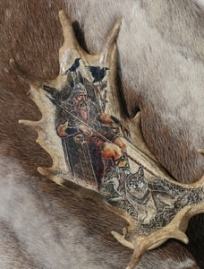 ODIN, NORSE GOD, ANTLER - SCRIMSHAW - PRODUCTS FROM ANTLER, WOOD{% if kategorie.adresa_nazvy[0] != zbozi.kategorie.nazev %} - PAGAN DECORATIONS{% endif %}