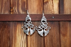 ART NOUVEAU TIN EARRINGS - COSTUME JEWELLERY{% if kategorie.adresa_nazvy[0] != zbozi.kategorie.nazev %} - JEWELLERY{% endif %}